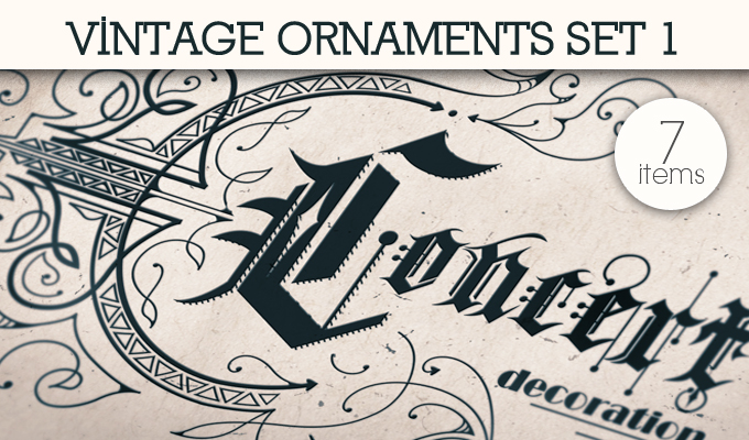designious vintage ornaments 1 small 10 New Vintage Ornaments Vector Packs & 1 Mega Pack from Designious.com
