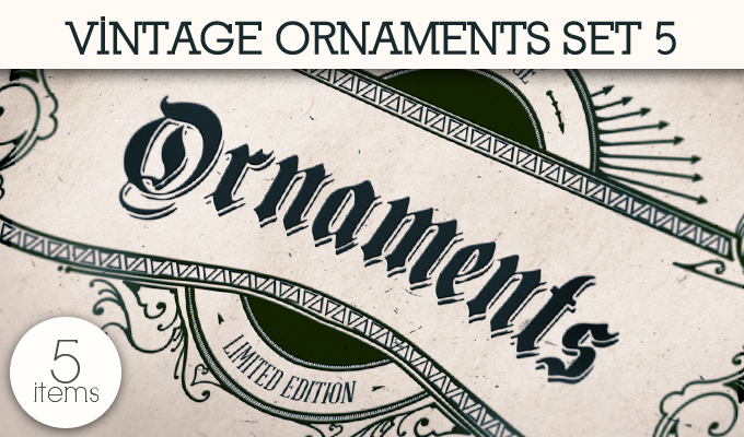designious vintage ornaments 5 small 10 New Vintage Ornaments Vector Packs & 1 Mega Pack from Designious.com
