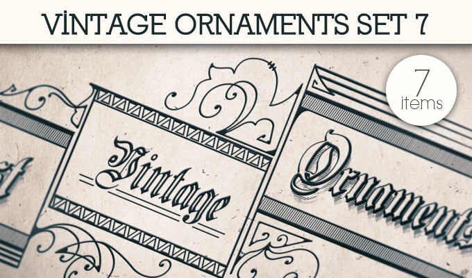 designious vintage ornaments 7 small 10 New Vintage Ornaments Vector Packs & 1 Mega Pack from Designious.com