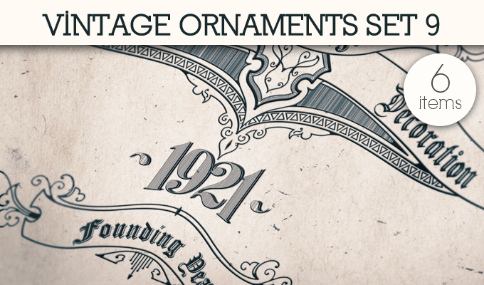 designious vintage ornaments 9 small 10 New Vintage Ornaments Vector Packs & 1 Mega Pack from Designious.com