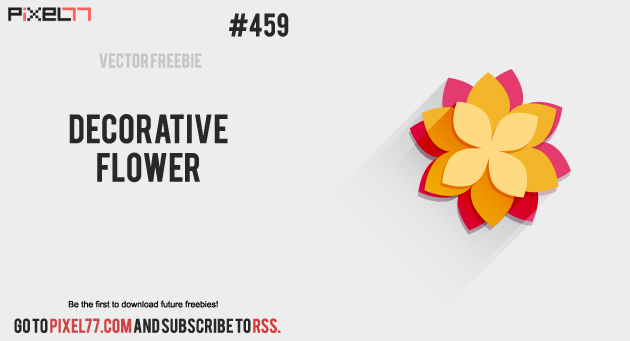 pixel77 free vector deco flower 1105 630 Free Vector of the Day #459: Decorative Flower