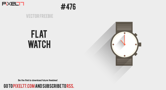 pixel77 free vector watch 1128 650 Free Vector of the Day #476: Flat Watch