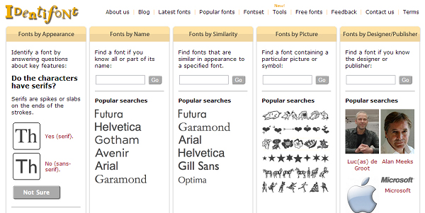 4 Great Tools for Identifying Fonts 4 4 Great Tools for Identifying Fonts & 3 Bonus Font Related Goodies