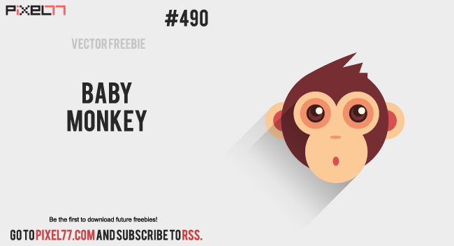pixel77 free vector baby monkey 1218 650 Free Vector of the Day #490: Baby Monkey