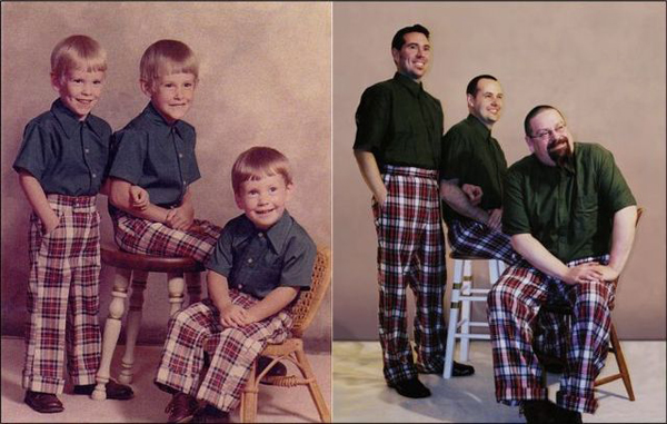 People Reenacting Photos from Their Childhood 8 Photography Trend: People Reenacting Photos from Their Childhood