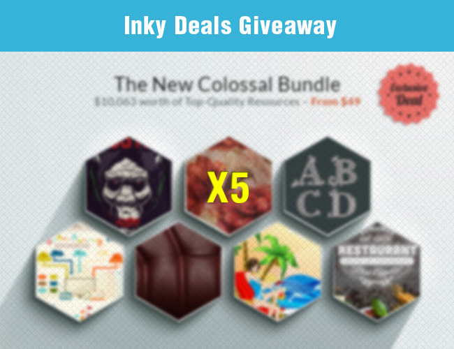 Giveaway: 5 New Colossal Bundles from Inky Deals