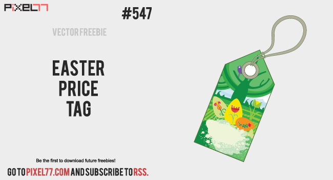 pixel77 free vector easter price tag 0307 650 Free Vector of the Day #547: Easter Price Tag