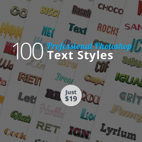 100-professional-ps-text-styles700