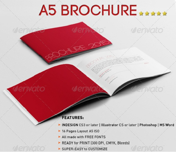 a5 landscape brochure template - 10 best brochure templates for designers pixel77