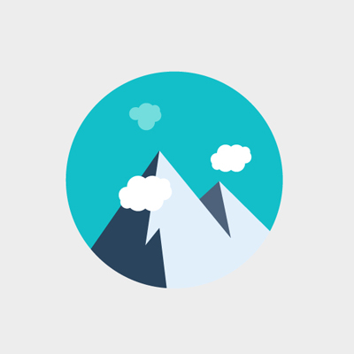 Image Gallery hiking icon