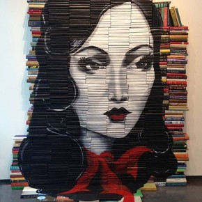 Artist-of-the-Week-Art-Painted-on-Stacks-of-Books-by-Mike-Stilkey-11