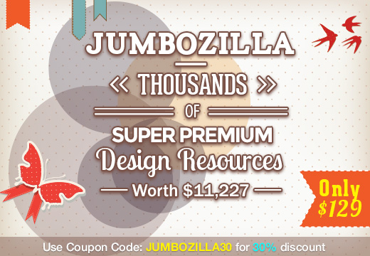 JumboZilla: thousands of super premium design resources worth $11,227 for just $129