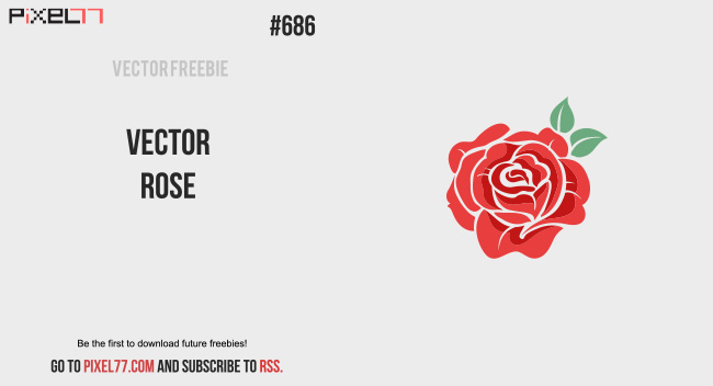 Free vector of the day 686 vector rose pixel77 download vector rose for free voltagebd Choice Image