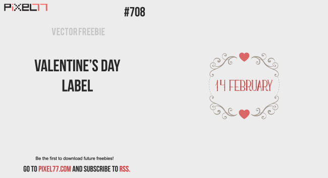 Free Vector Of The Day #708: Valentine'S Day Label Vector - Pixel77