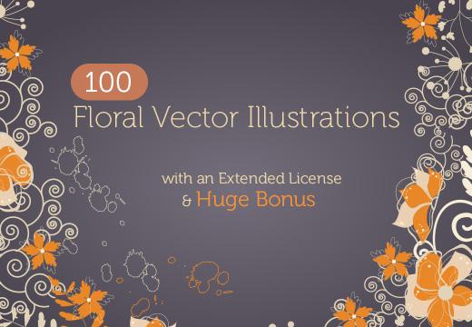 floral vector illustrations