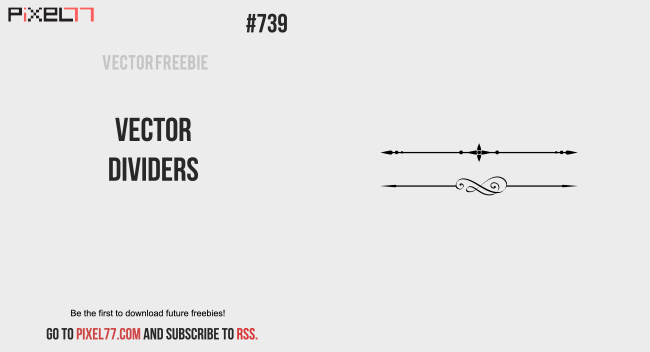 Free Vector of the Day #739: Vector Dividers