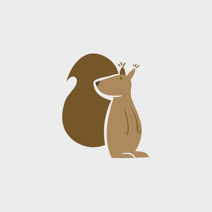 vector squirrel