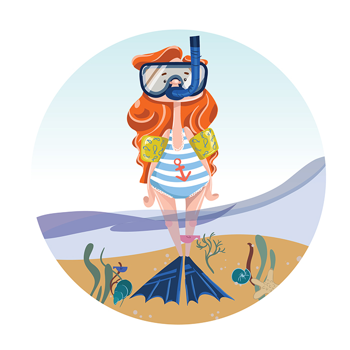 tutorial summer illustration