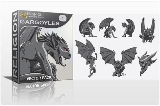 640328vector gargoyles Fresh Freebies, Vector Packs & Tshirt designs from Designious.com